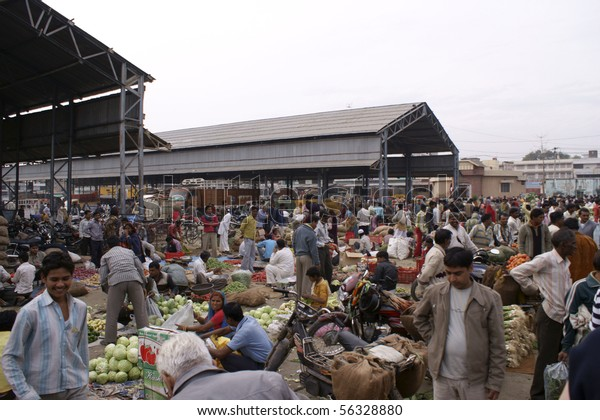 KOTA, INDIA - FEB. 22: Fruit and Vegetable Market on February 22, 2010 in Kota, India.