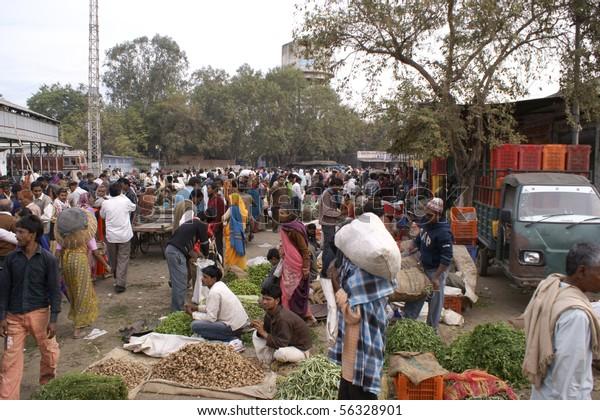 KOTA, INDIA - FEB. 22: Fruit and Vegetable Market on February 22, 2010 in Kota, India.