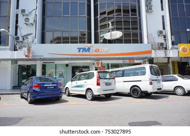KOTA KINABALU, MALAYSIA , 5 NOV 2017 : Telekom Malaysia Berhad DBA is Malaysia's leading telecommunications company, addition to offerings in data, fixed line, pay television and network services.
