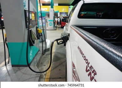 Kota Kinabalu, Malaysia – Oct 29, 2017: Car owner in Malaysia fill-up fuel Diesel. Malaysia offer option for the consumers which is Diesel,RON 95 and RON 97 currently.