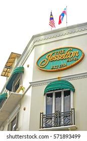 Kota Kinabalu, MY - JUNE 19: The Jesselton Hotel facade in Jalan Gaya, Kota Kinabalu, Malaysia on June 19, 2016.