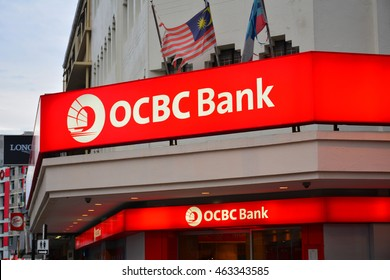 KOTA KINABALU, MY - JUNE 21: OCBC Bank Malaysia sign on June 21 in Jalan Gaya, Kota Kinabalu. OCBC Bank is the longest established Singapore bank, formed in 1932 from the merger of three local banks.