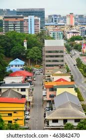 KOTA KINABALU, MY - JUNE 21: Kota Kinabalu City overview on June 21, 2016 in Kota Kinabalu, Malaysia. Kota Kinabalu, formerly known as Jesselton, is the capital of the state of Sabah, Malaysia.
