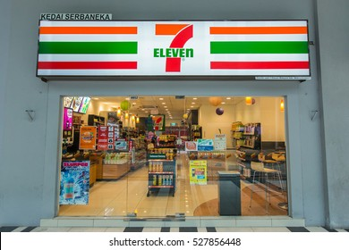 Kota Kinabalu Sabah, Malaysia - DEC 2, 2016: 7-Eleven is world's largest operator, franchisor and licensor of convenience stores, with more than 46,000 shops.