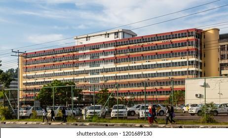 Kota Kinabalu, Sabah, Malaysia - February 15 2018: Public Works Department Sabah (malay: Jabatan Kerja Raya Sabah)