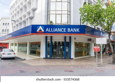 KOTA KINABALU SABAH, MALAYSIA - JAN 07, 2017: Alliance Bank at Kota Kinabalu city centre pictured on January 07, 2017.