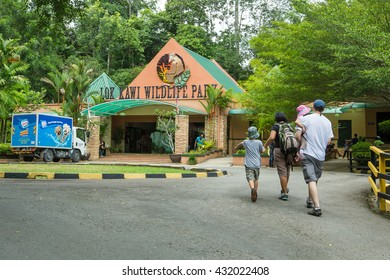 Kota Kinabalu Sabah Malaysia - June 4, 2016:People visiting Lok Kawi Zoo in Kota Kinabalu Sabah.The zoo is a treatment and rehabilitation centre for Sabah endengered animal like Orang Utan.