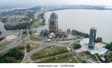 KOTA KINABALU, SABAH, MALAYSIA : Okt 6 ,2018 : The new Sabah State Administrative Centre building is a goverment office complex building located in Kota Kinabalu,Sabah.
