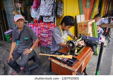 KOTA KINABALU, SABAH, MALAYSIA-2017, Mar 15: Routine Activities at Kota Kinabalu Wet Market also knowned as Philipine Market among locals. The most visited place by tourist to buy cheap seafood & gift