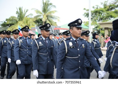 Kota Kinabalu Sabah Malaysia-August 31, 2017:Malaysians participate in National Day parade, celebrating the 60th anniversary of independence on August 31, 2017 in Kota Kinabalu Sabah Malaysia.