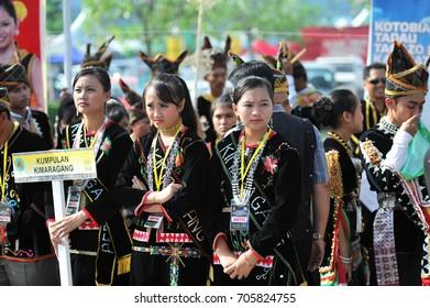 Kota Kinabalu, Sabah. May 30, 2011: Young lads of the various kadazandusun ethnicity of Sabah during Pesta Kaamatan at Kota Kinabalu,Sabah.Malaysia.