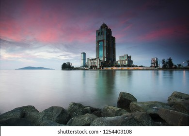KOTA KINABALU, SABAH - SEPT 26, 2018: Sabah State Administrative Center building is a government office complex located in Kota Kinabalu in the state of Sabah, Malaysia.