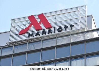 Kota Kinabalu, sabah-Aug 31, 2018: JW Marriot Kota Kinabalu sign board in Kota Kinabalu,Sabah.JW Marriott is a luxury hotel chain of Marriott International. It is named after John Willard Marriott.