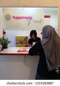 KOTA KINABALU SABAH,MALAYSIA-FEB 21,2019 : Tupperware Malaysia branch office at Jalan Lintas,Kota Kinabalu,Sabah. In many countries, Tupperware products come with a lifetime guarantee.