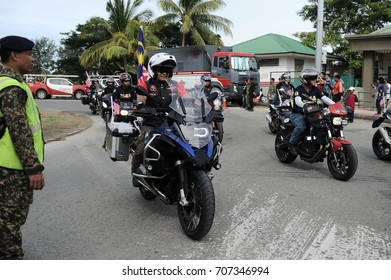 KOTA KINABALU,MALAYSIA - AUGUST 31, 2017: Participant during 60th Celebrations, Malaysian Independence Day Parade on August 31, 2017 in Kota Kinabalu, Malaysia.