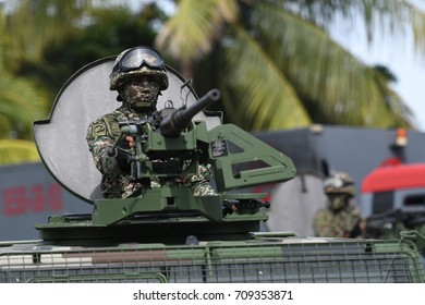 KOTA KINABALU,MALAYSIA - AUGUST 31, 2017: Malaysia Armed Forces during 60th Celebrations, Malaysian Independence Day Parade on August 31, 2017 in Kota Kinabalu, Malaysia.
