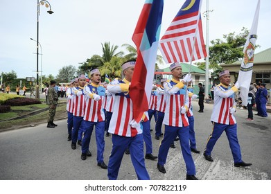 KOTA KINABALU,MALAYSIA-AUGUST 31, 2017 : Participant during 60th Celebrations, Malaysian Independence Day Parade on August 31, 2017 in Kota Kinabalu, Malaysia.