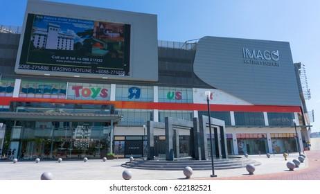 KOTA KINABALU,SABAH,MALAYSIA-April 15,2017:The front view of Imago shopping mall  Kota Kinabalu,Sabah.