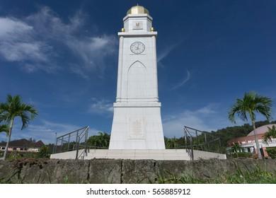 KOTA KINABALU,SABAH,MALAYSIA-January 28,2017:University Malaysia Sabah Clock tower,Sabah,Malaysia.