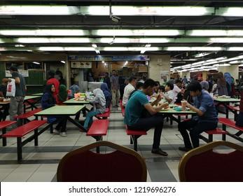 KOTA KINABALU,SABAH,MALAYSIA-November 2, 2018 : View of foodcourt in Centre Point Sabah, Kota Kinabalu, Sabah.