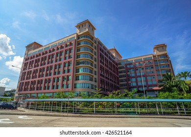 Kota Kinabalu,Sabah-May 19,2016:The Hospital Queen Elizabeth in Kota Kinabalu, Sabah is the main hospital for the city and the whole Sabah. It is named after the Queen Elizabeth II of United Kingdom.