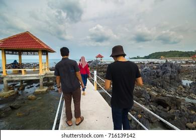 KOTA TINGGI,JOHOR-SEPTEMBER 16 2017:Jetty of Tanjung Balau views during day time