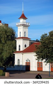 KOTKA, FINLAND - SEPT 4, 2012 - Old fire-tower in the city of Kotka, Finland