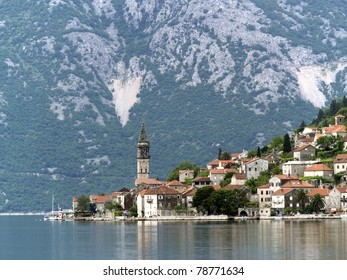 Kotor bay seaview daytime spring long focus
