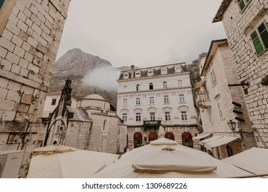 KOTOR, MONTENEGRO - 30.10.2018:  Old Town of Kotor. Kotor is a city on the coast of Montenegro and is located in Kotor Bay. - Image