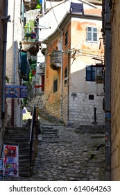 KOTOR, MONTENEGRO - JULY 09, 2015: Kotor Old Town Alley