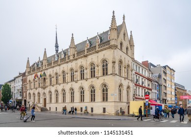 KOTRIJK,BELGIUM - MAY 20,2018 - View at the building of Old Town hall in Kotrijk. Kortrijk is the largest city in southern West Flanders.