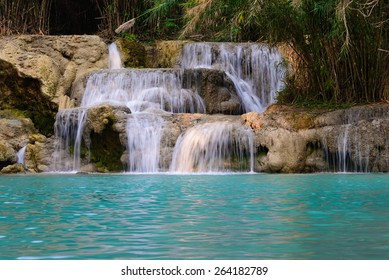 Kouangxi waterfall at Luang Prabang in Laos.