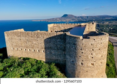 Koules of Aptera or Fortress of Sousbasi at Aptera, Crete, Greece built by the Ottoman Empire close to Chania, Xania, Crete, Greece, built in 1866 during the Ottoman occupation