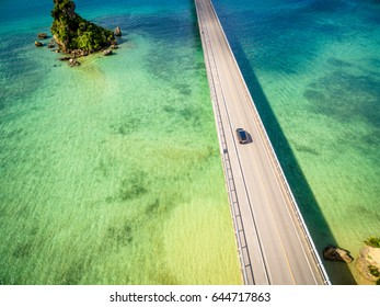 Kouri Bridge in Okinawa, Japan