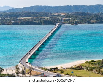 Kouri Ohashi is a bridge connecting Kouri Island in Nakijin village to Yagajijima in Nago City in Okinawa Prefecture, Japan. Scenery from the Kouri Bridge is the best scenic spot in Okinawa mainland.