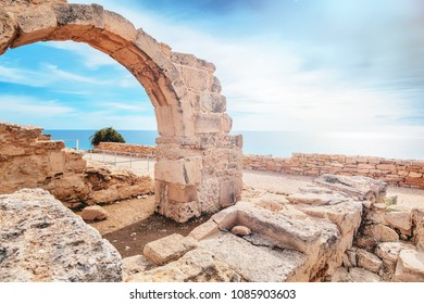 Kourion archaeological park on the Mediterranean coast, Island Cyprus