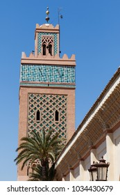Koutoubia Mosque - the biggest mosque in Marrakech, Morocco Africa