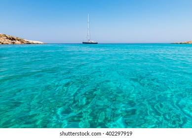 Koutsomyti the small island near Astyplaia island Greece