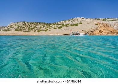 Koutsomytis island beach near Astypalaia island greece