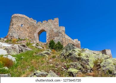 Kov castle is located within the boundaries of Esenyurt village of Gümüşhane -  Alexios, it was made to resist the Seljuks.  - Shutterstock ID 1273645720