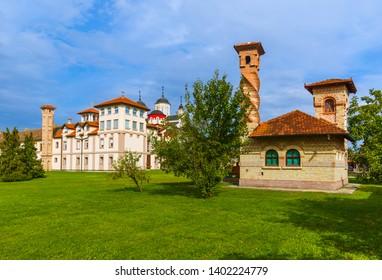 Kovilj Monastery in Fruska Gora - Serbia - architecture travel background