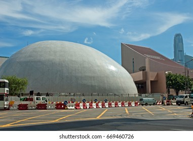 KOWLOON, HONG KONG – MAY  29, 2007: the Space Museum. Modern and typical building structure.