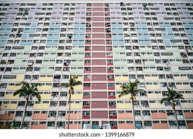 Kowloon hongkong Dec 05 2018 Choi Hung Estate Car Park, rainbow building in hongkong