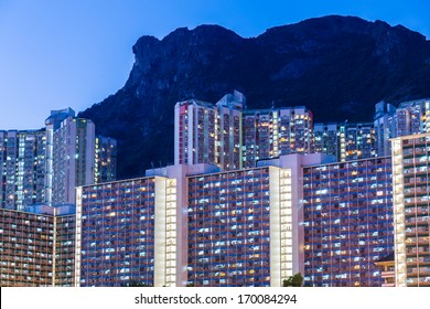 Kowloon residential district in Hong Kong