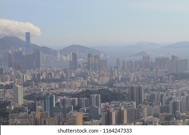 The Kowloon skyline of west Kowloon side