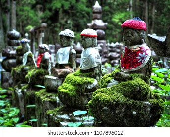 Koyasan meditation with Kobo Daishi in Okuno-in on pilgrimage and hiking route near Osaka, Kansai, Kii peninsula, Wakayama Prefecture, Japan, Asia