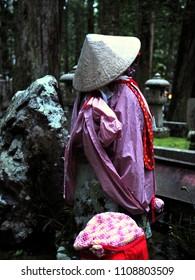 Koyasan meditation with Kobo Daishi in Okuno-in on pilgrimage and hiking route near Osaka, Kansai, Kii peninsula, Wakayama Prefecture, Japan, Asia