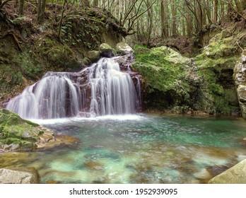 Koza River in Japan with beautiful water - Shutterstock ID 1952939095
