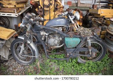 Old Rusty Motorbike Images Stock Photos Vectors Shutterstock