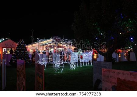 koziars christmas village light show in bernville pa usa on november 12 - Bernville Christmas Village